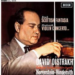 Bruch - Scottish Fantasia : David Oistrakh : Jascha  Horenstein and Paul Hindemith : LSO - 180g LP