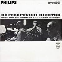 Beethoven - Sonatas For Piano & Cello : Mstislav Rostropovich and Sviatoslav Richter - 180g 2LP