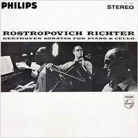 Beethoven - Sonatas For Piano & Cello :  Mstislav Rostropovich  and Sviatoslav Richter - 180g 2LP