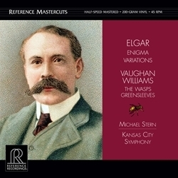 Elgar - Enigma Variations/ Vaughan Williams: Wasps Greensleeves : Michael Stern - 45rpm 200g 2LP