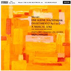Mozart - Eine kleine Nachtmusik - Stuttgart Chamber Orchestra conducted by Karl Münchinger - 180g LP