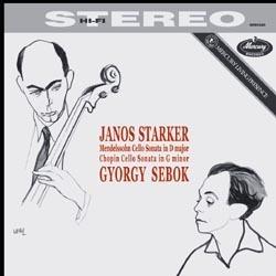 Mendelssohn / Chopin - Cello Sonatas : Janos Starker & György Sebök - 180g LP