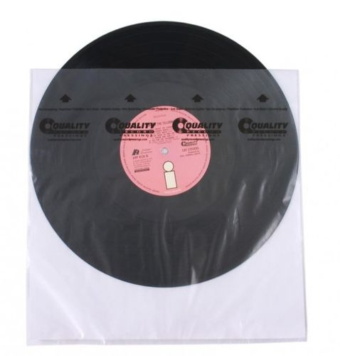 "12"" LP HDPE  QRP Quality Record Pressings Rice Paper Anti Static  Inner Sleeve"