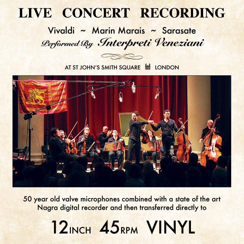 Vivaldi - Marin Marais - Sarasate - Interpreti Veneziani - 45rpm D2D 180g LP