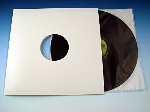 "10"" EP Record White Card Masterbag Outer Sleeve Un-Lined"