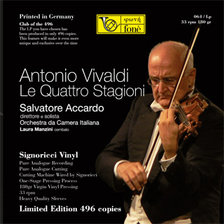 Vivaldi - The Four Seasons - Salvatore Accardo : Orchestra da Camera Italiana - 180g LP