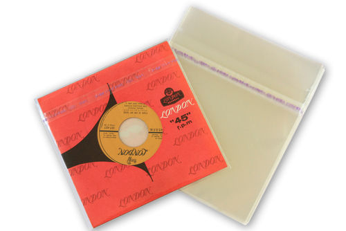 "7"" Single Mylar  Japanese Outer Sleeves Resealable"