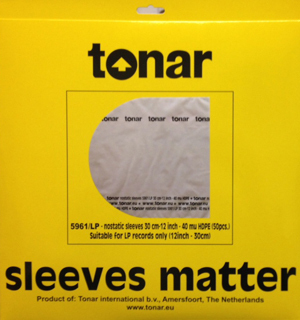 "7"" Single Record Tonar 5983/45 Nostatic Inner Sleeves Anti-Static - Pack Of 50"