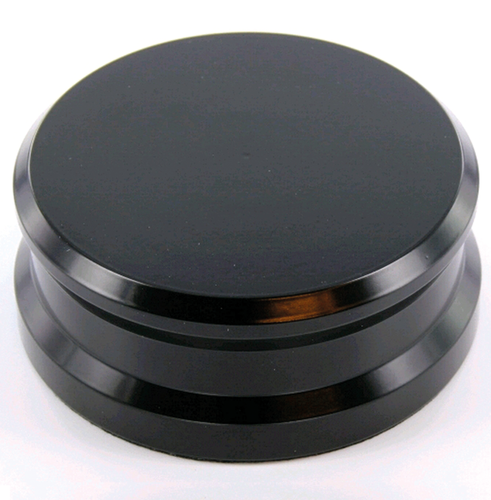 Record Puck - Record Weight Brass Black Tonar 760g