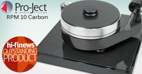 Pro-Ject  RPM 10 Carbon Turntable / Dustcover