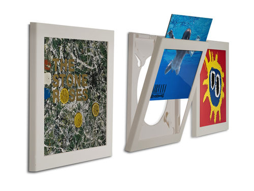 Art Vinyl Play & Display Record Frame - White Triple