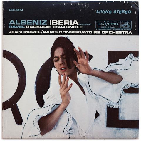 Albeniz - Iberia - Ravel - Rhapsodie Espagnole :Jean Morel : Paris Conservatoire Orch - 200g 2LP