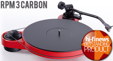 Pro-Ject RPM 3  Carbon Turntable / Dustcover / Ortofon 2M Silver