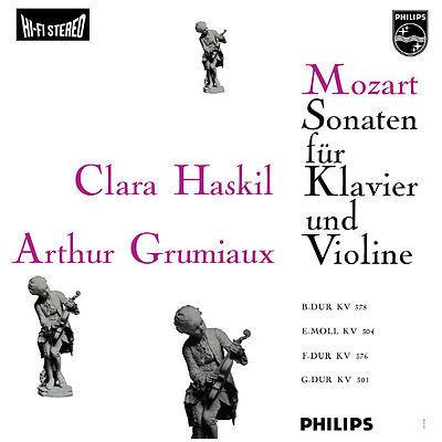 Mozart - Sonatas for Piano & Violin : Clara Haskil : Arthur Grumiaux  - 180g LP