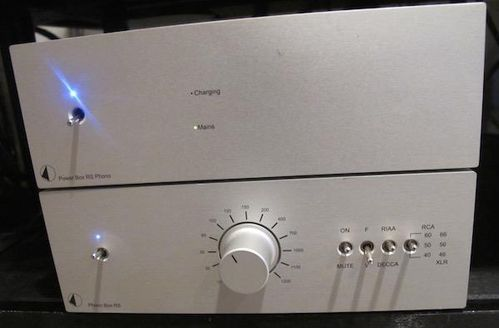 Pro-Ject Phono Box RS + Power Box RS Phono - Linear / Battery power supply PSU - MM/MC Phono Stage