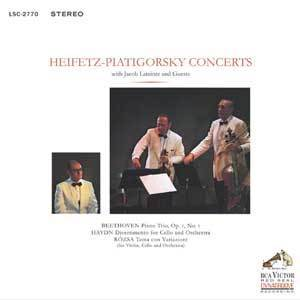 Heifetz-Piatigorsky Concerts  - with Jacob Lateiner and Guests  -  180g LP
