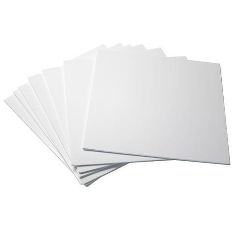 "12"" LP HDPE White  Inner Sleeve Anti-Static Polylined 90Gsm ( Without Centre Hole )"