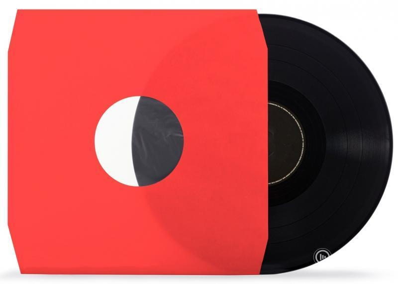 """12"""" LP HDPE Red Inner Sleeve Anti-Static Polylined ( Cut Corner )"""