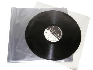 "12"" LP Mylar 3.0mil Inner Sleeves Anti-Static 300 Gauge"