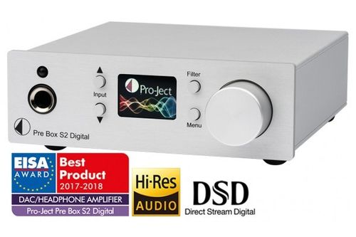 Pro-Ject Pre Box S2 Digital - Preamplifier / MQA , DSD : DAC - Headphone