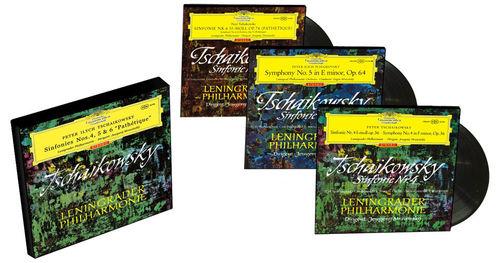 Tchaikovsky - Symphonies Nos. 4,5&6 : Evgeny Mravinsk : Leningrad Philharmonic - 180g 3LP Box Set