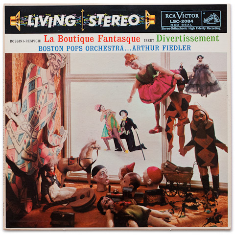 Rossini-Respighi: La Boutique Fantasque & Ibert: Divertissement  , Boston Pops, Fiedler - 200g LP