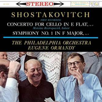 Shostakovitch - Cello Concerto, Symphony No. 1 : Mstislav Rostropovich : Eugene Ormandy - 180g LP