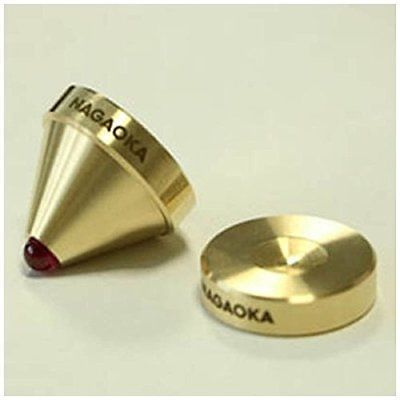 Nagaoka INS-BR02 Ruby Ball & Brass  Isolator ( Set of 4 )