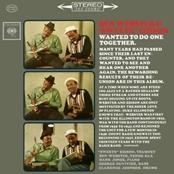 "Ben Webster And  ""Sweets "" Edison -  Wanted To Do One Together - 45rpm 180g 2LP"