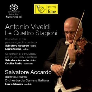 Vivaldi - The Four Seasons - Salvatore Accardo :  Orchestra da Camera Italiana - SACD