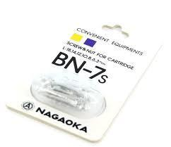 Nagaoka  BN-7s Cartridge Mounting Screws Silver