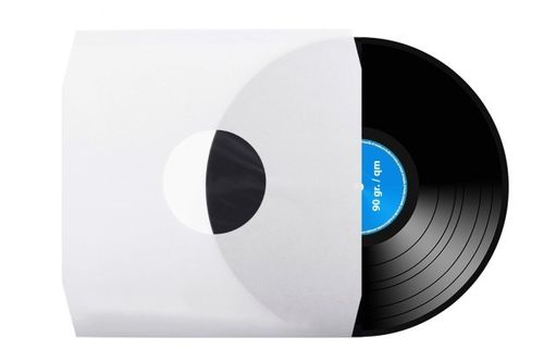 "12"" LP White Paper Inner Sleeve  Un-Lined (  Cut Corner )"