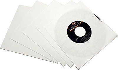 "7"" Single  White Paper Inner Sleeve Un-Lined"
