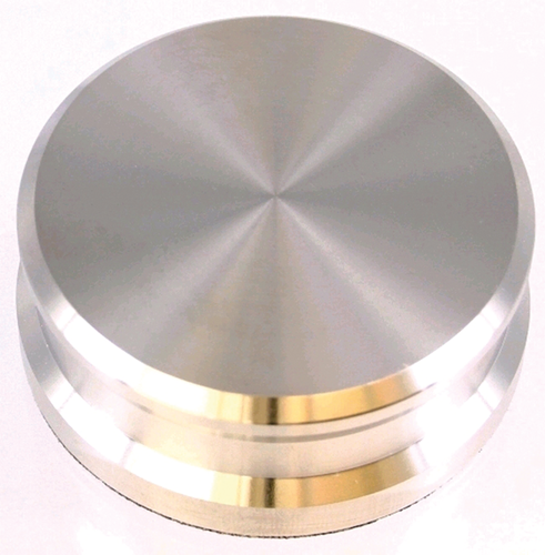 Record Puck - Record Weight Brass Nickle  760g 5964 Tonar