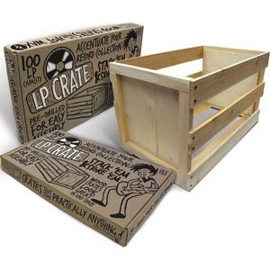 LP Crate  Wooden Records - 100 LPs