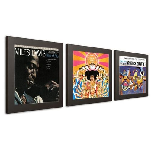 Art Vinyl Play & Display Record Frame - Black Triple