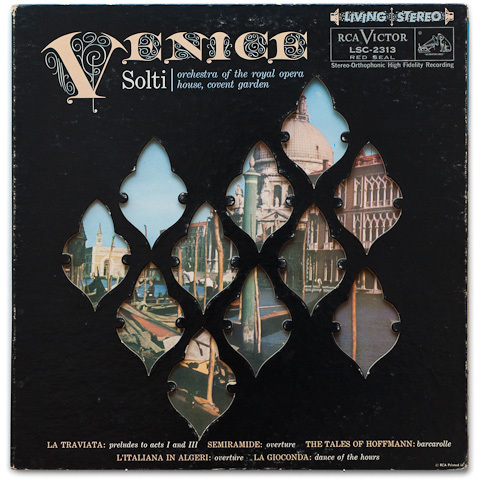 Venice -  Georg Solti • Orchestra Of The Royal Opera House, Covent Garden - 200g LP