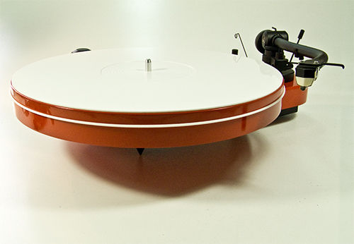 Turntable White Perspex  Platter  Dust  Cover