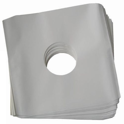 "12"" LP HDPE White Inner Sleeve Anti-Static Polylined 90Gsm ( Cut Corner )"