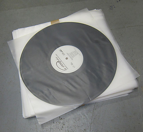"12"" LP HDPE 3.5mil Inner Sleeve Anti-Static 350 Gauge"