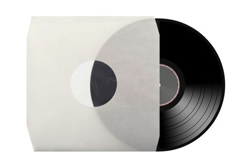 "12"" LP HDPE Cream Inner Sleeve Polylined Anti-Static 70Gsm ( Cut Corner )"