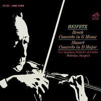 Bruch & Mozart - Concerto in G minor & D Major  : Jascha Heifetz : Malcolm Sargent - 200g LP