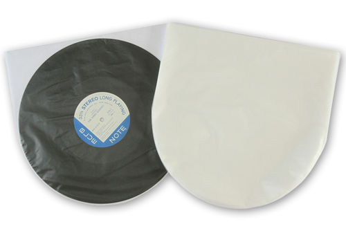 "12"" LP HDPE 1.6mil Inner Sleeves Anti-Static  160 Gauge"