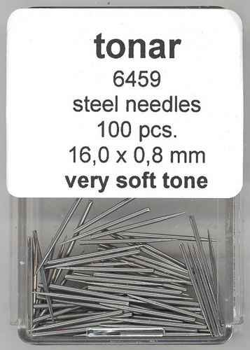 Steel Gramophone Needles Very Soft Tone 16.0 mm / 0.8 mm (  100 pieces )