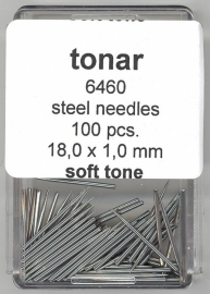 Steel Gramophone Needles Soft Tone 18.0 mm / 1.0 mm ( 100 pieces )