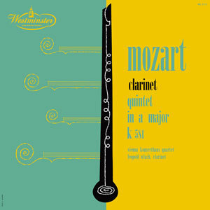 Mozart - Clarinet Quintet in A Major , K581  : Leopold Wlach  - 180g  LP Mono