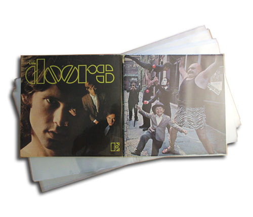 "12"" LP 4.0mil Mylar Gatefold Outer Sleeve 400 Gauge"